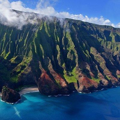 Na Pali coast, Kaua'i (view from helicopter)