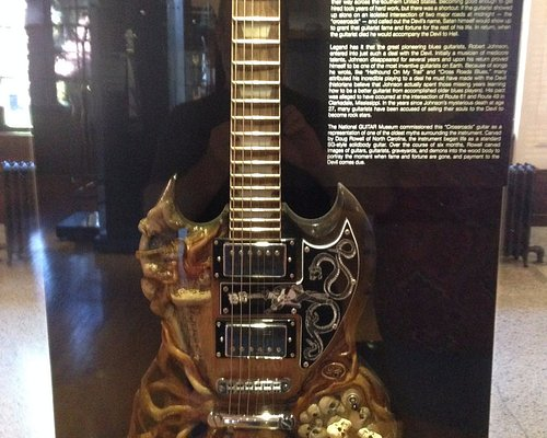 The Crossroads guitar from their guitar exhibit.