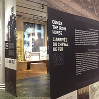 A detailed shot of our main exhibit space. Our floor to ceiling banners elaborate on our history