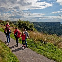 Walking trails and the 'Finest View in England' at Sutton Bank National Park Centre (c) Chris J