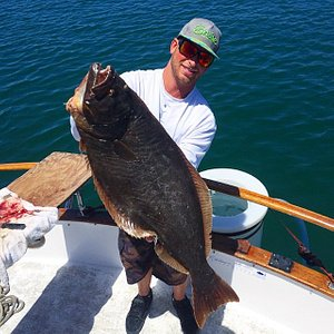 This is the trophy Halibut i caught! 18lbs
