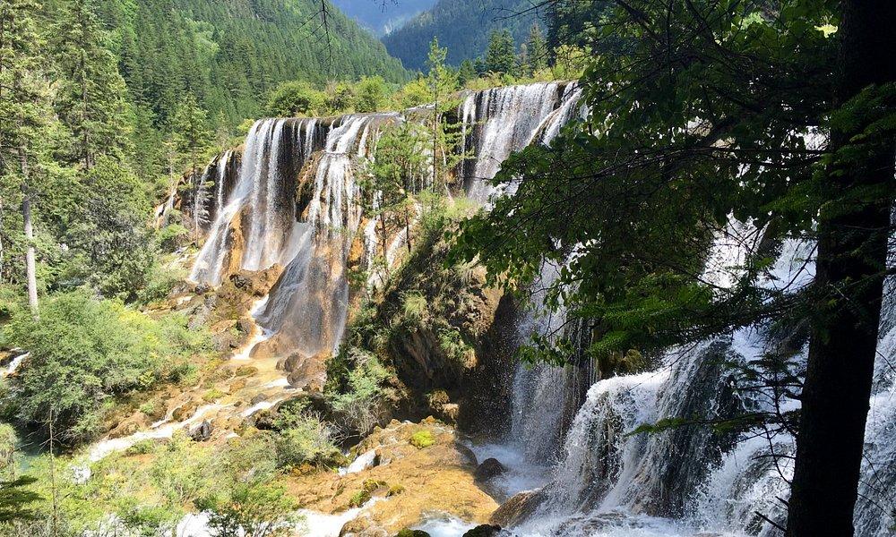 Wodospad w połowie trasy