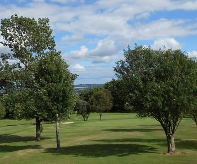 Crook GC - a typical vista of trees and hills