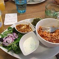 Vegetarian Tika plate