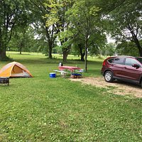 Outer loop campsite, very little cover but good overall