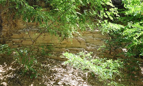 Layers of soils in Cozla park