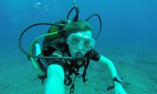 Me diving!