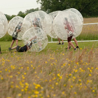 Corporate Day zorbing at Mojo Active
