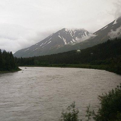 View towards Denali mountains.