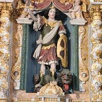 Saint-Michael, a wooden statue