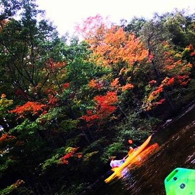 Double kayak on the Chip last fall..
