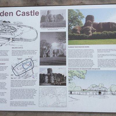 Walden Castle, interpretation board