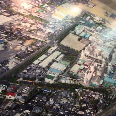 工場空から(ミュージアム内展示)