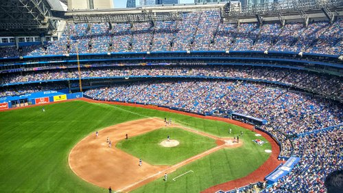 Blue Jays Game at the Rogers Centre with CN Tower