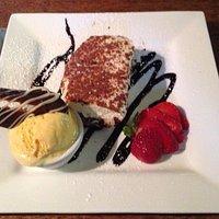 Tiramisu (the best I have ever had) with cornish ice cream