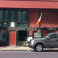 View of Finnegans Wake from valet at Hotel Bentley