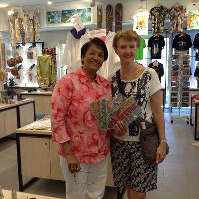 Rokiah with her beautiful gift shop at Botanic Gardens KL