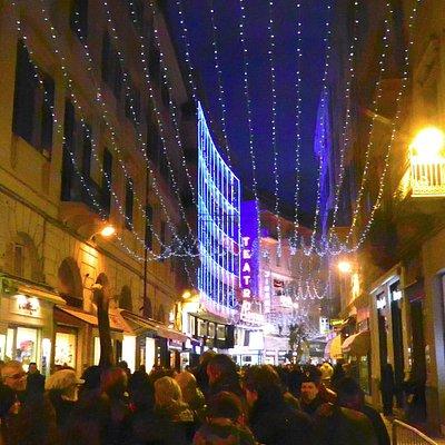 Il Corso all'inizio nel periodo del Festival della Canzone