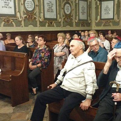 Sinagoga, evento, a destra il presidente della Comunità, Ottolenghi.