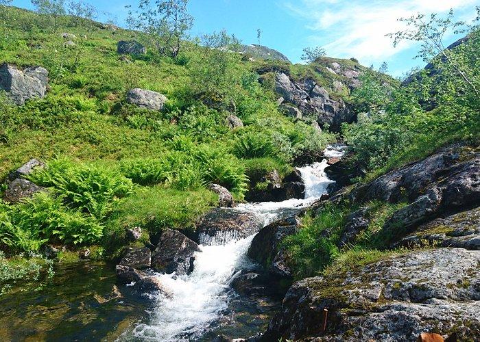 einer der kleineren Wasserfälle - nicht minder schön als seine großen Brüder