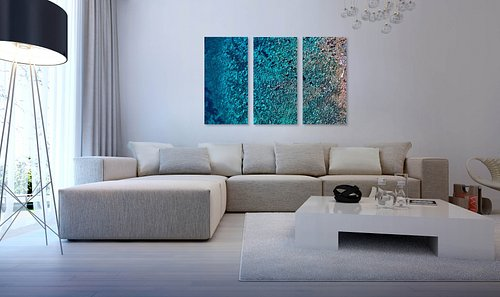 """Tryptich available """"Boulders in the Blue"""""""