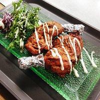 Tandoori Chicken Half (Roasted chicken marinated with Indian spices in tandoor)