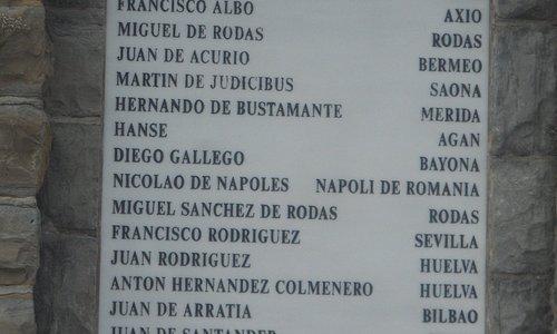 nombre de los marineros que acompañaron a Elcano en su primer viaje