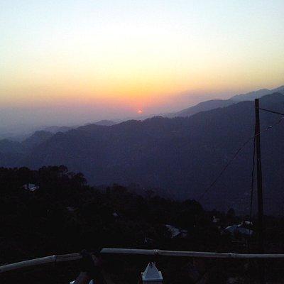 sun setting down