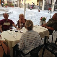 Dinner with friends on the piazza!