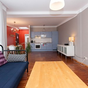 The 4-person studio apartment at The Circus Hostel