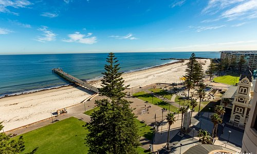 The Grand Ocean View Balcony Room at the Stamford Grand Adelaide