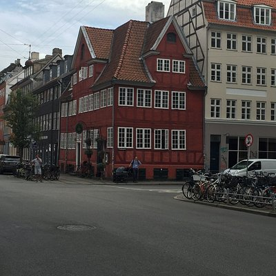 One of the beautiful houses in old Copenhagen we passed during the tour