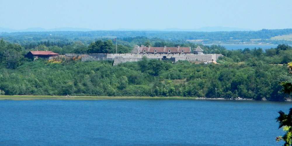 Ft. Ticonderoga across Lake Champlain from the Baldwin Trail Scenic Outlook