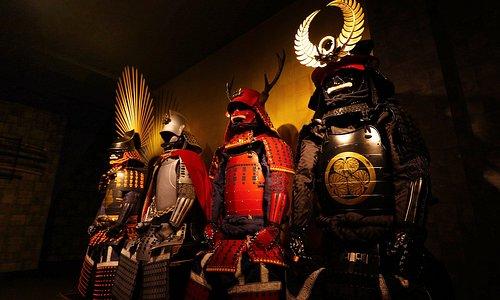 戦国フォトスタジオSAMURAIの甲冑。Armor picture of Studio SAMURAI.
