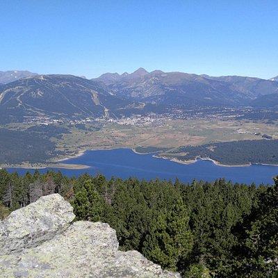 Station des Angles + lac de Matemale vus du Dormidor