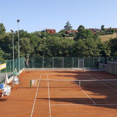 il nuovo campo da tennis