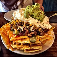 "This is the ""small"" nachos - serves 2 as a full meal"