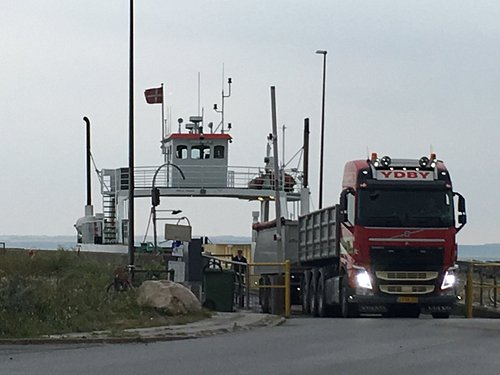 Leaving the ferry