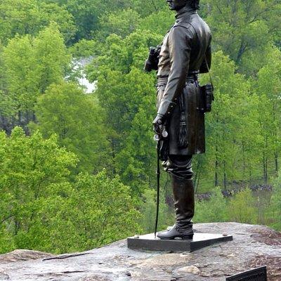 Little Round Top - General Warren Statue