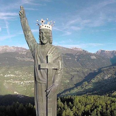 Vue aérienne du Christ Roi