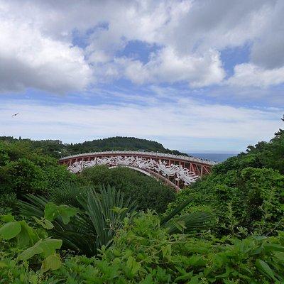 Вид на мост семи нимф из парка Ёмиджи