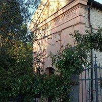 Fronte della Chiesa, inglobata in area privata