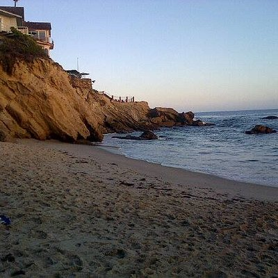 South end of Wood's Cove in Laguna Beach, CA