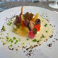 magret fumé, copeaux de foie gras