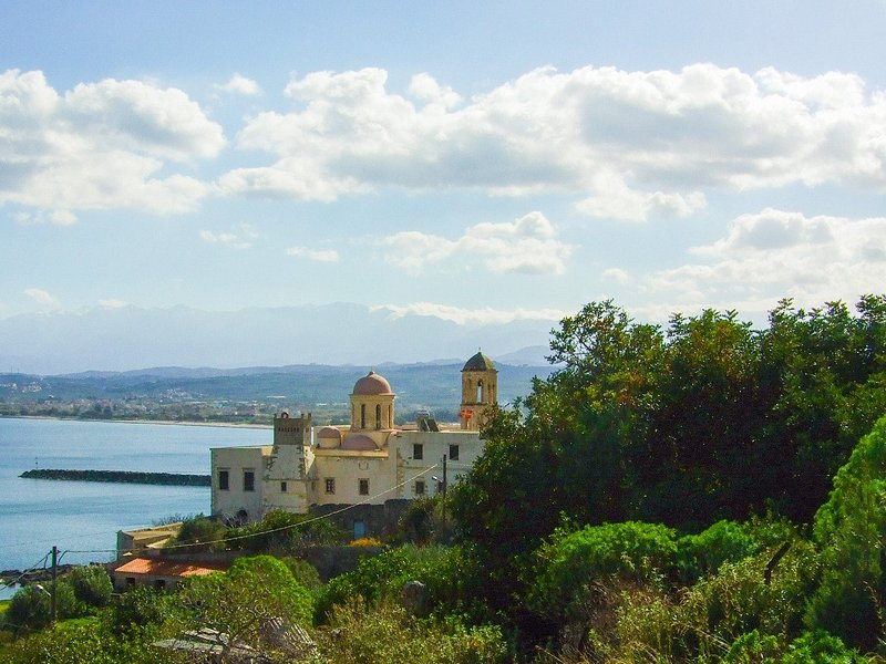 View of Monastery of Our Lady of Gonia from Orthodox Academy