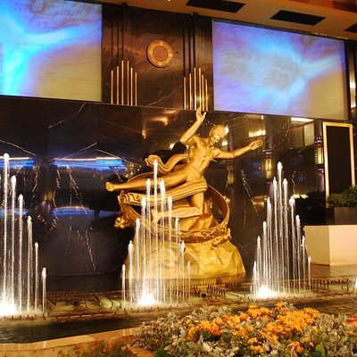 Small-Scale Version of Manhattan's Rockefeller Plaza at Jakarta's Grand Indonesia Shopping Town.