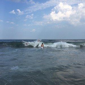 Vågorna vid Sea Girt beach