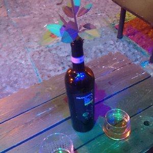 Drinks zu Abend bei herrlicher Tischdekoration :D