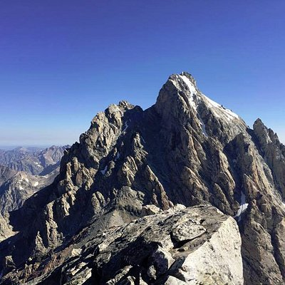 Picture was taken on the summit of the Middle Teton!