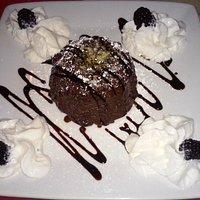 Unimpressive chocolate lava cake -- cake was quite dry